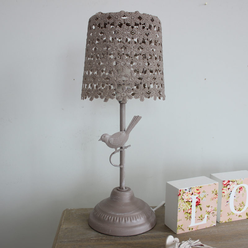 Mocha Bird Table Lamp