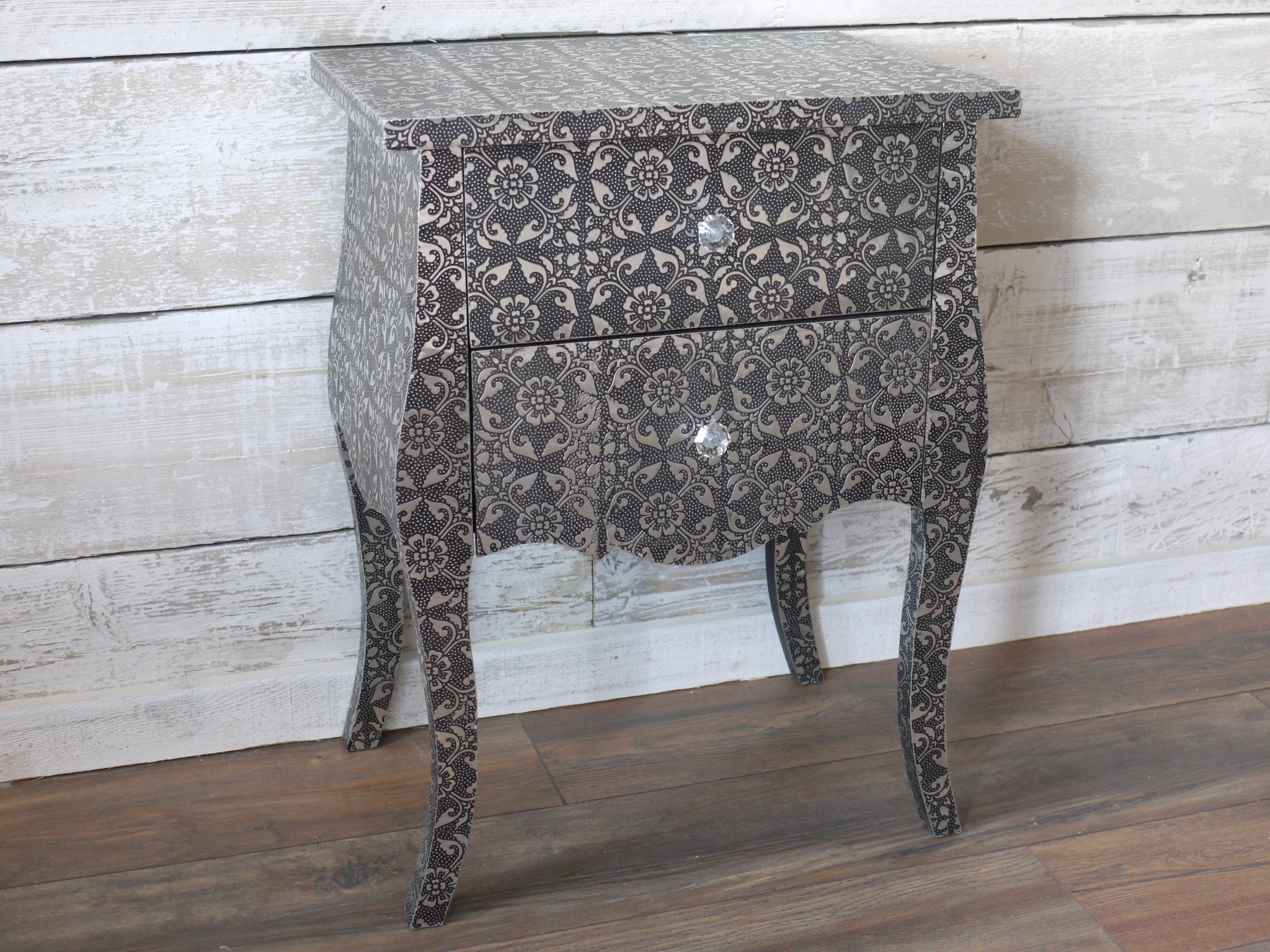 Monique Range - Silver Bedside Table