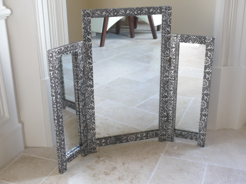 Monique Range - Silver Dressing Table and Mirror