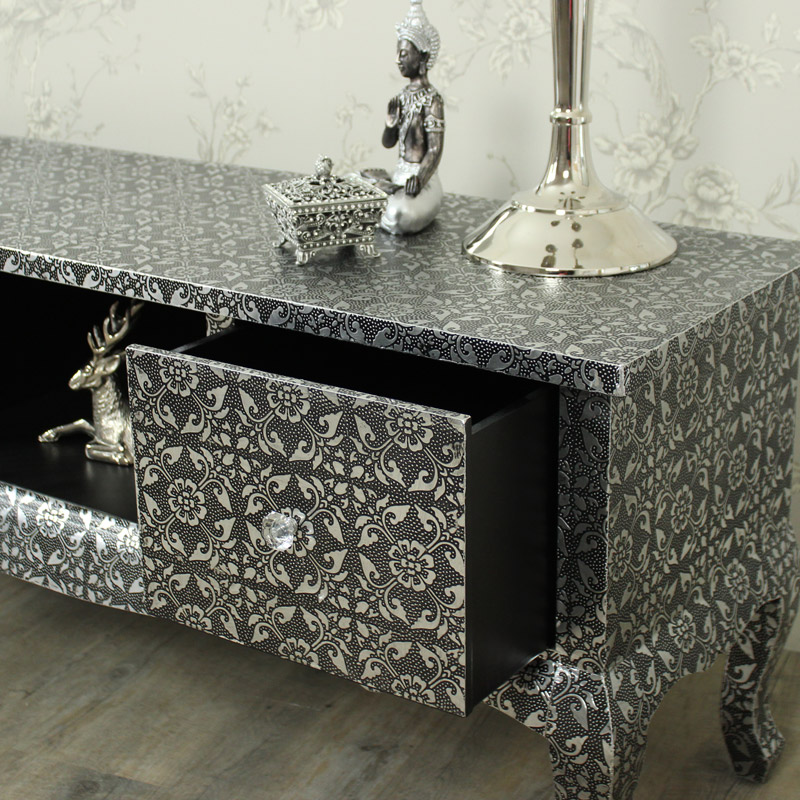 Monique Range - Silver TV Cabinet