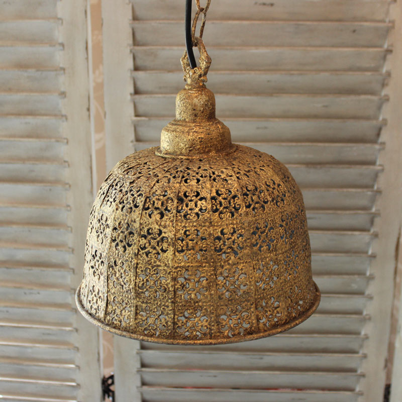 Moroccan Style Gold Ceiling Lamp Melody Maison 174