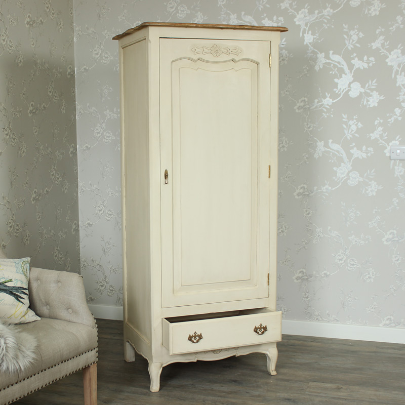Normandy Range - Cream Single Wardrobe