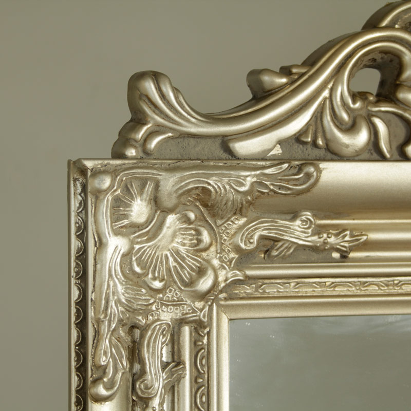 Ornate Champagne Cheval Mirror