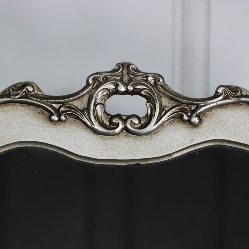 Ornate Cheval Mirror With  Drawer Storage - Tiffany Range 54cm x 77cm