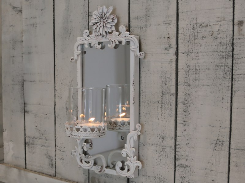 Mirrored Wall Sconces For Candles : vintage mirrored candle sconce shabby vintgae style home decoration wall mounted eBay