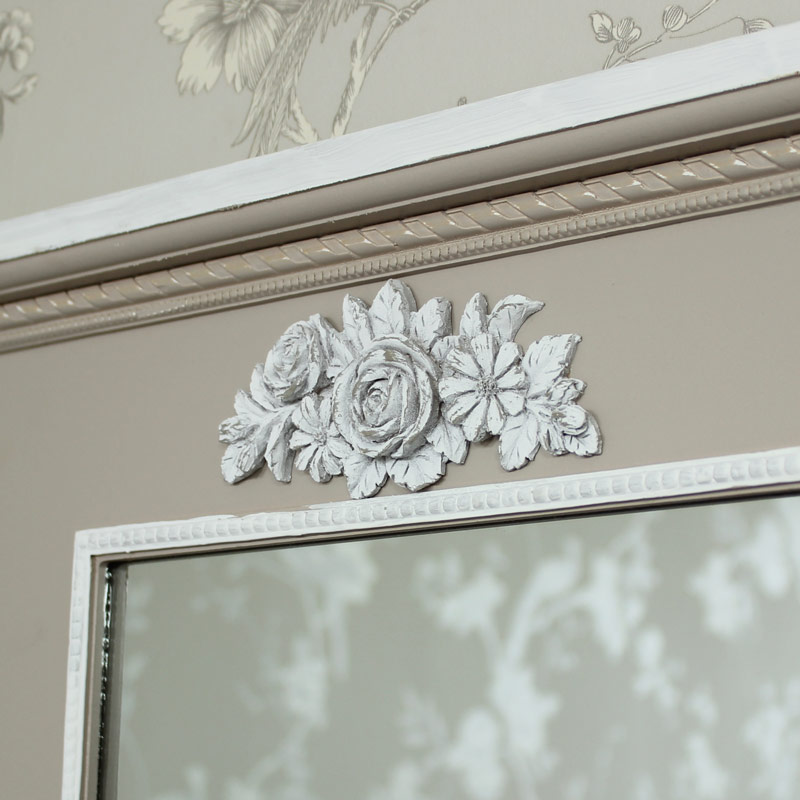 Ornate Wooden Wall Mirror