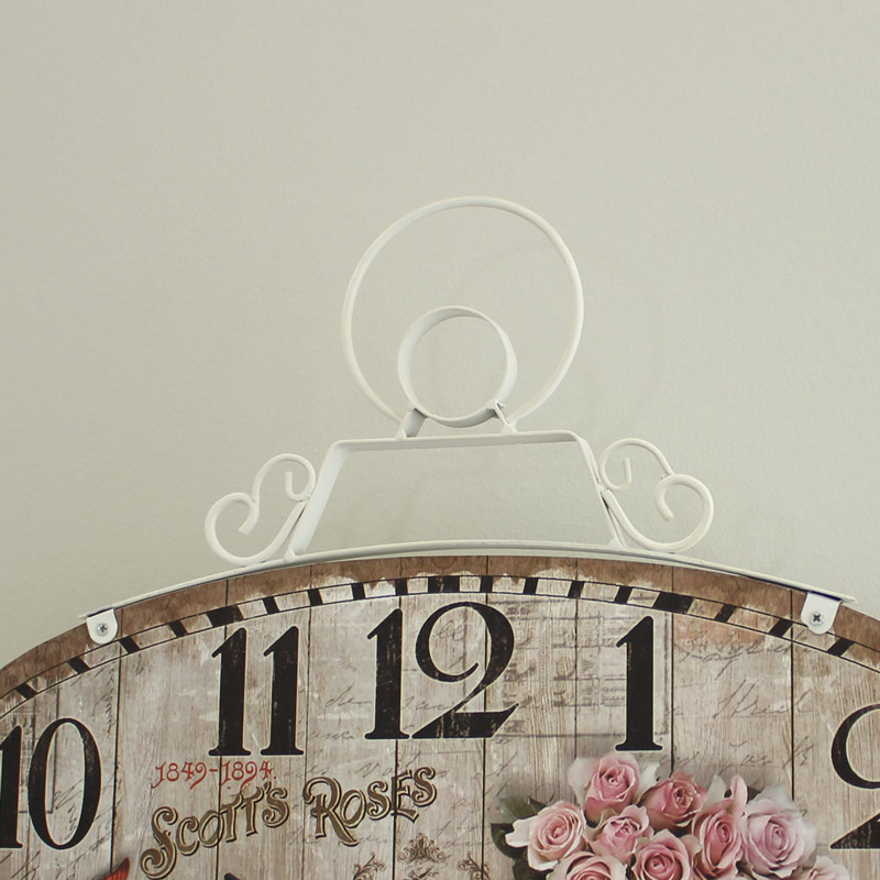 Oval Rose Wall Clock