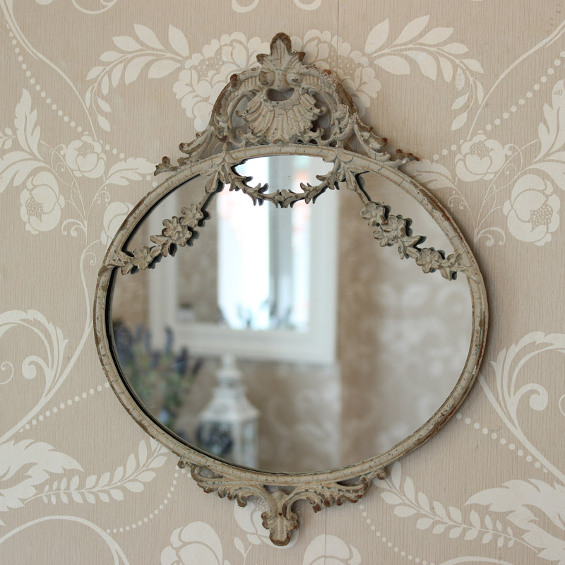 Oval swag decor wall mirror melody maison - Oval wall decor ...