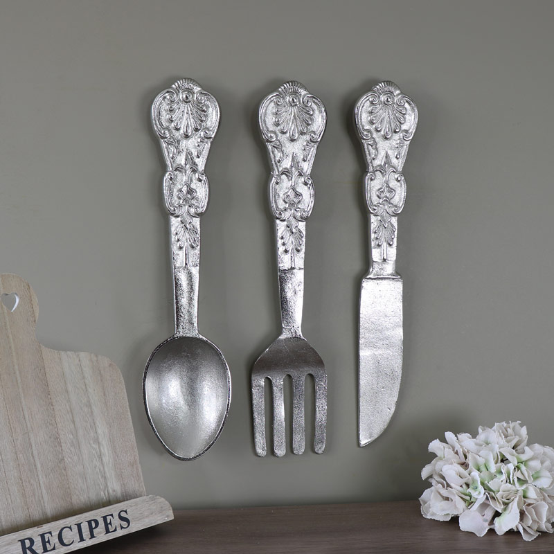 Over Sized Wall Hanging Cutlery Set