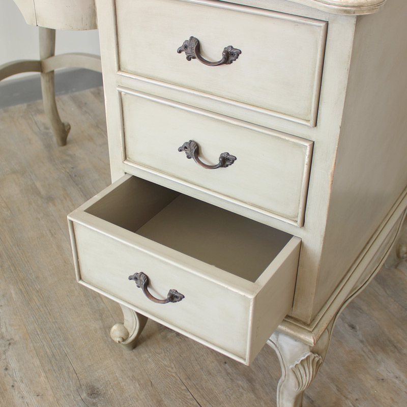 Paris Range - Ornate Cream Dressing table / Desk / Writing Table