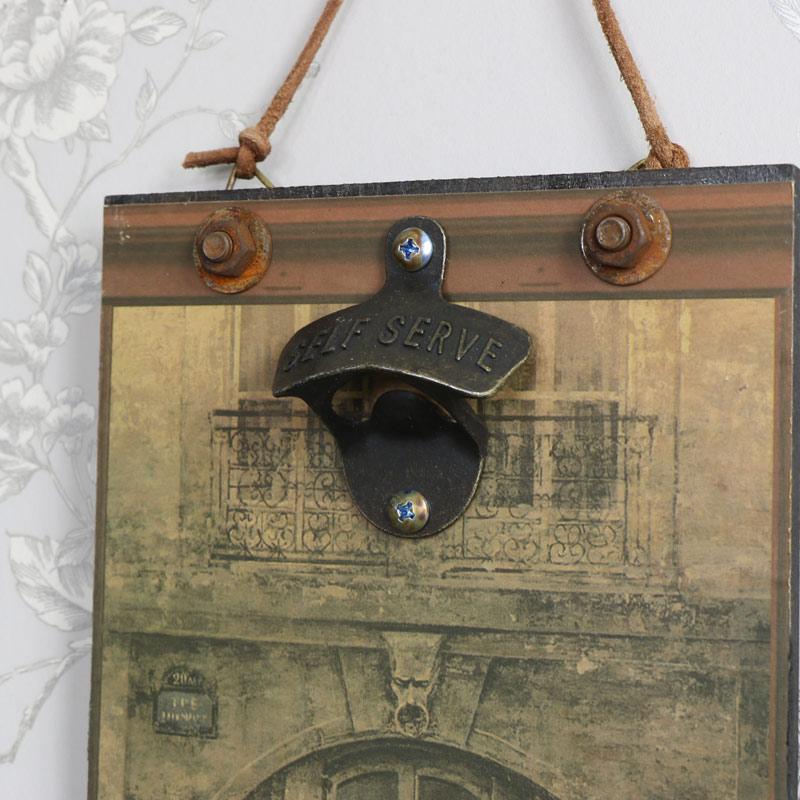 paris shop front wall bottle opener melody maison. Black Bedroom Furniture Sets. Home Design Ideas