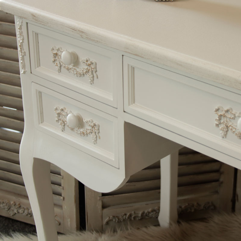 Antique White Dressing Table Desk With