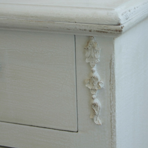 White tall storage cabinet ornate shabby french vintage