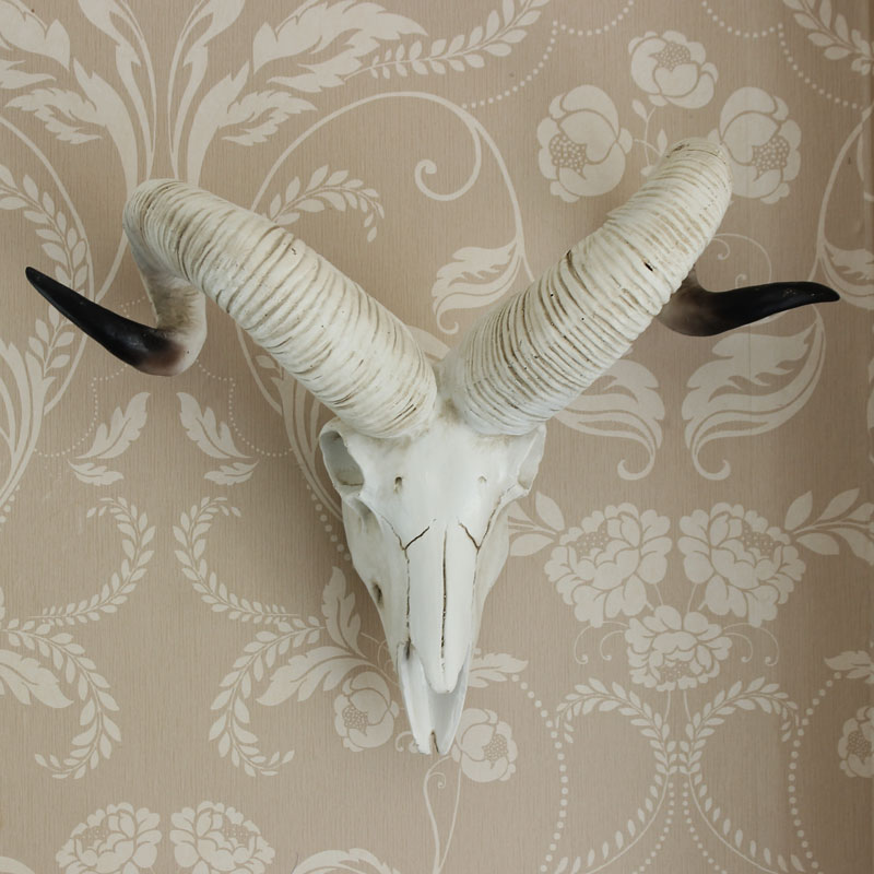 Rams Skull Resin Sculpture