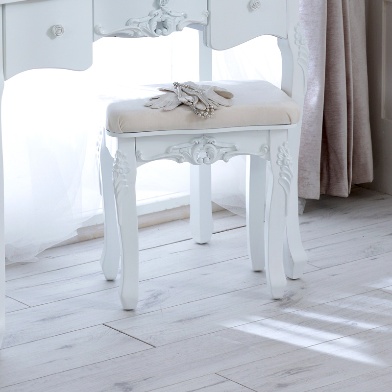 Rose range ivory dressing table and mirror stool for Range dressing table