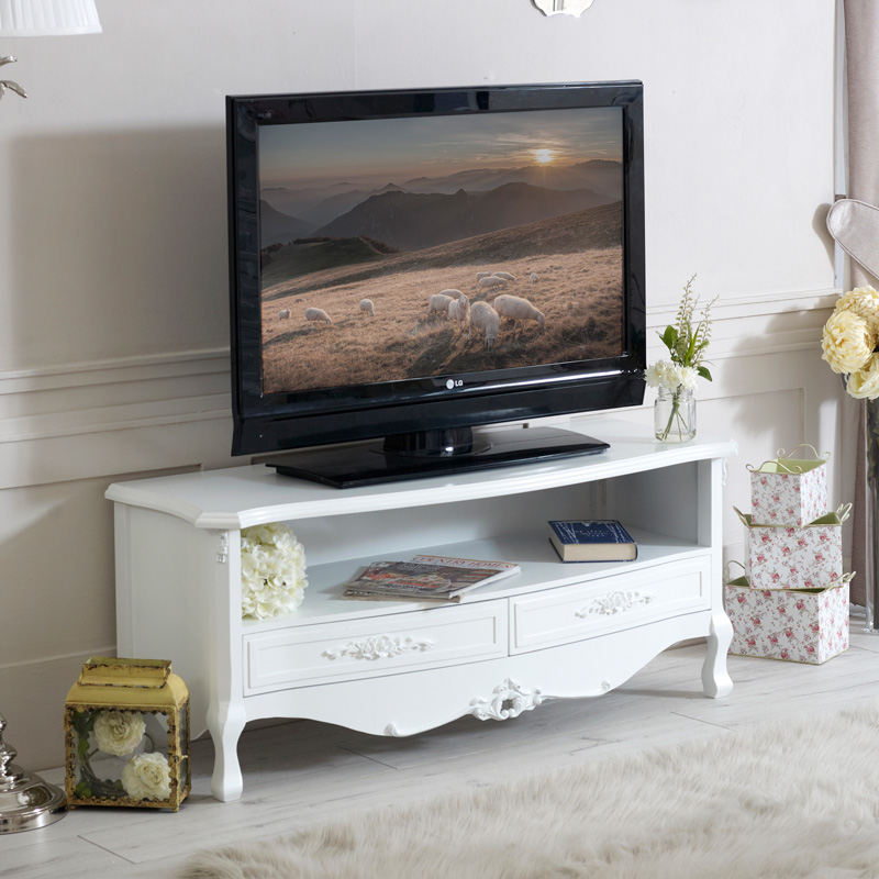 Rose Range - White Two Drawer Television Cabinet