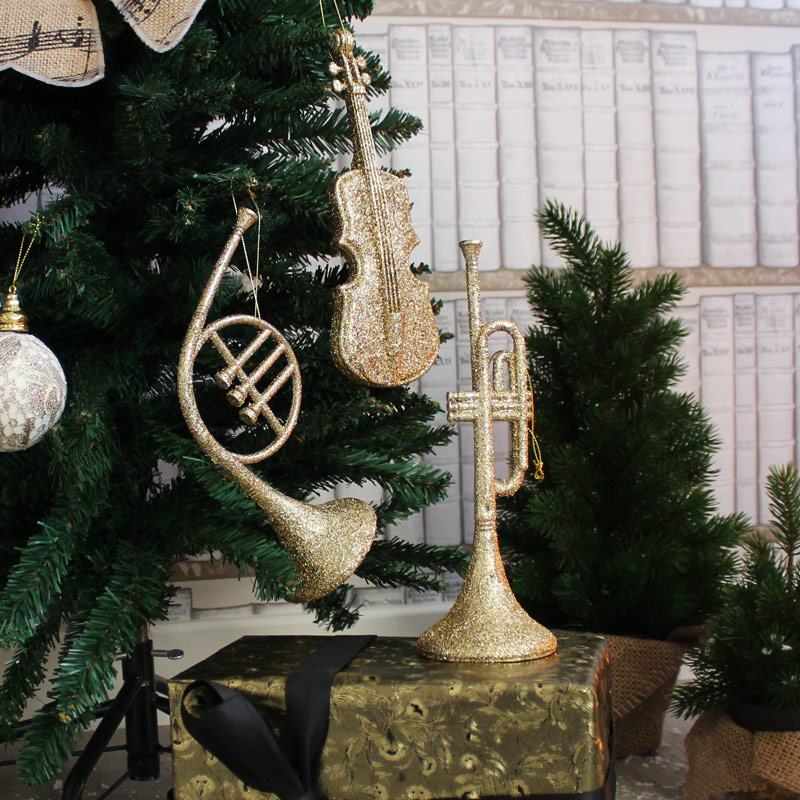 Set of 3 Musical Instrument Tree Decorations