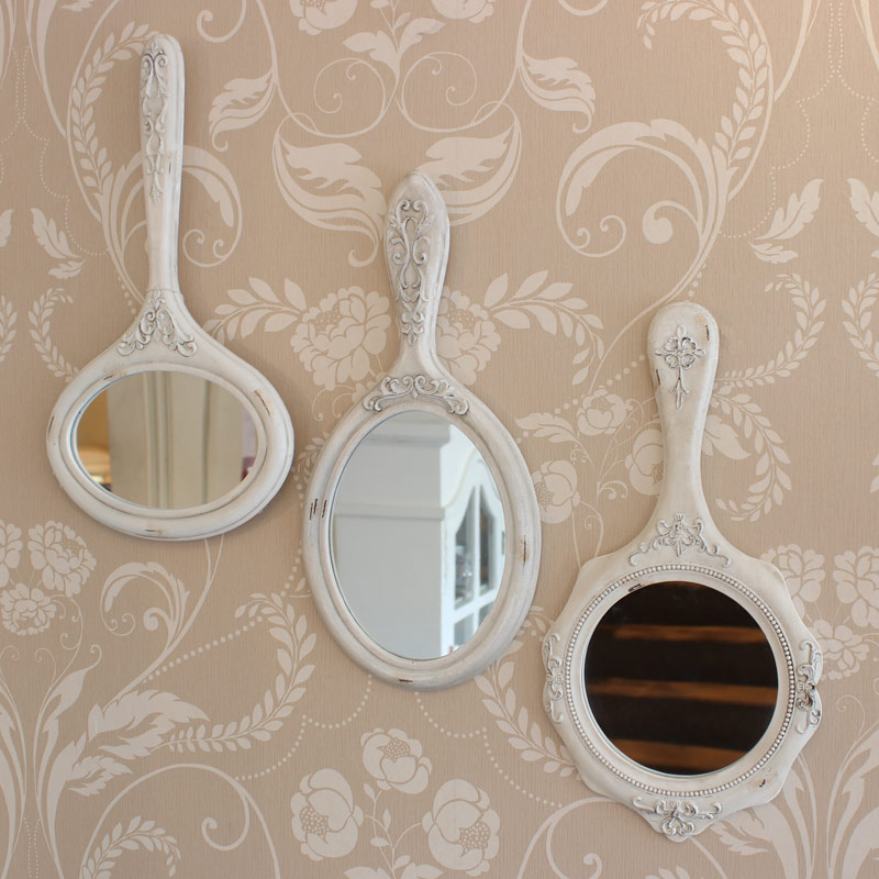 set of 3 vanity wall mirrors melody maison. Black Bedroom Furniture Sets. Home Design Ideas