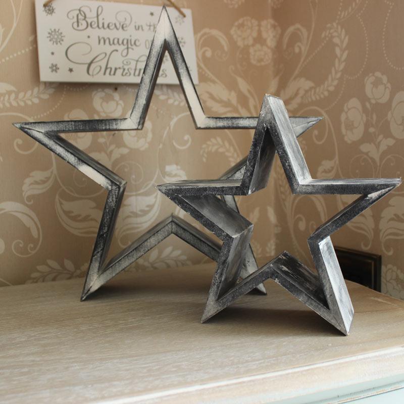 Set of Wooden Decorative Stars