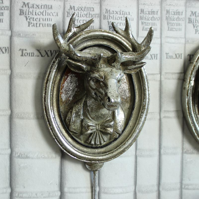 Silver Mounted Stag Wall Hook