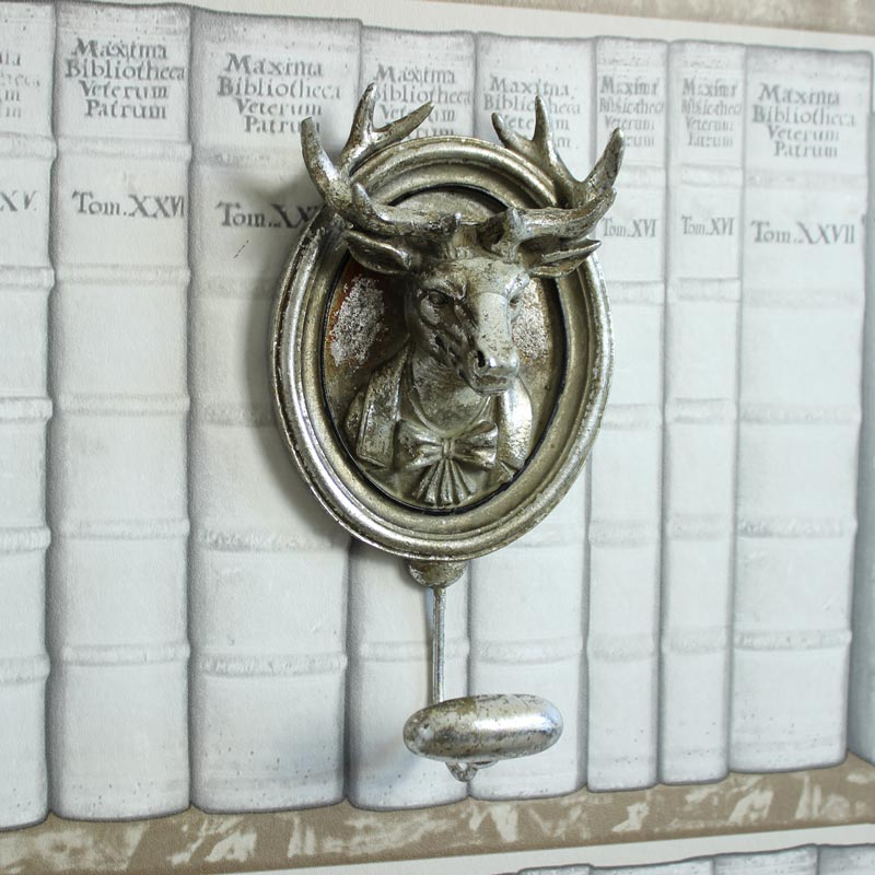 Silver Mounted Stag Wall Hook Melody Maison