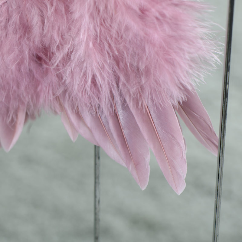 Small Pink Feather Angel Wings Hanging Decoration