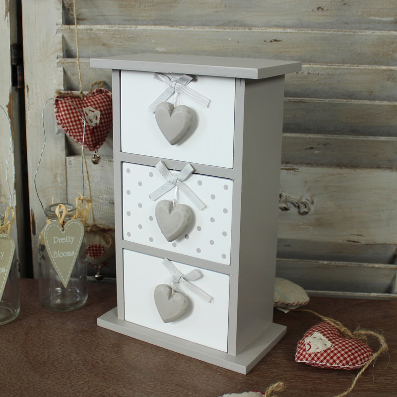 Heart Wooden Trinket/Makeup Storage Chest