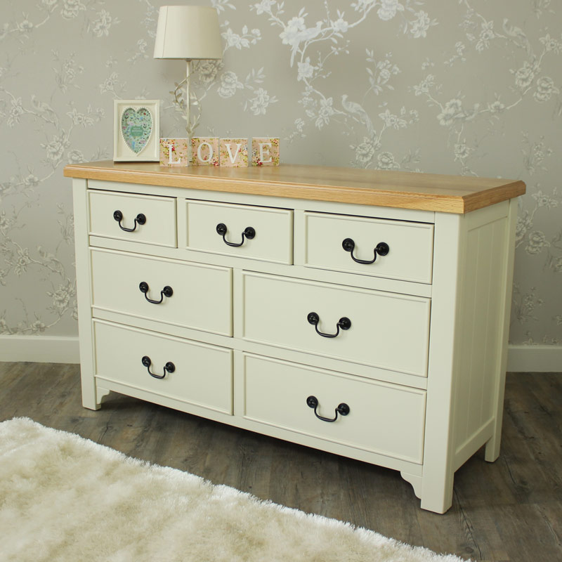 Spring Cottage Cream - Seven Drawer Chest