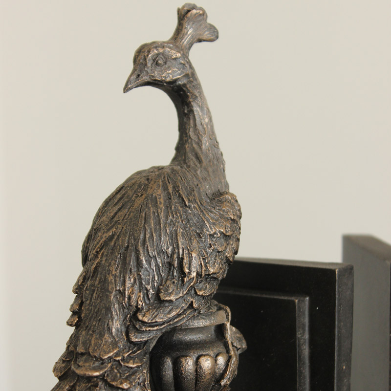 Standing Peacock Bookends Melody Maison