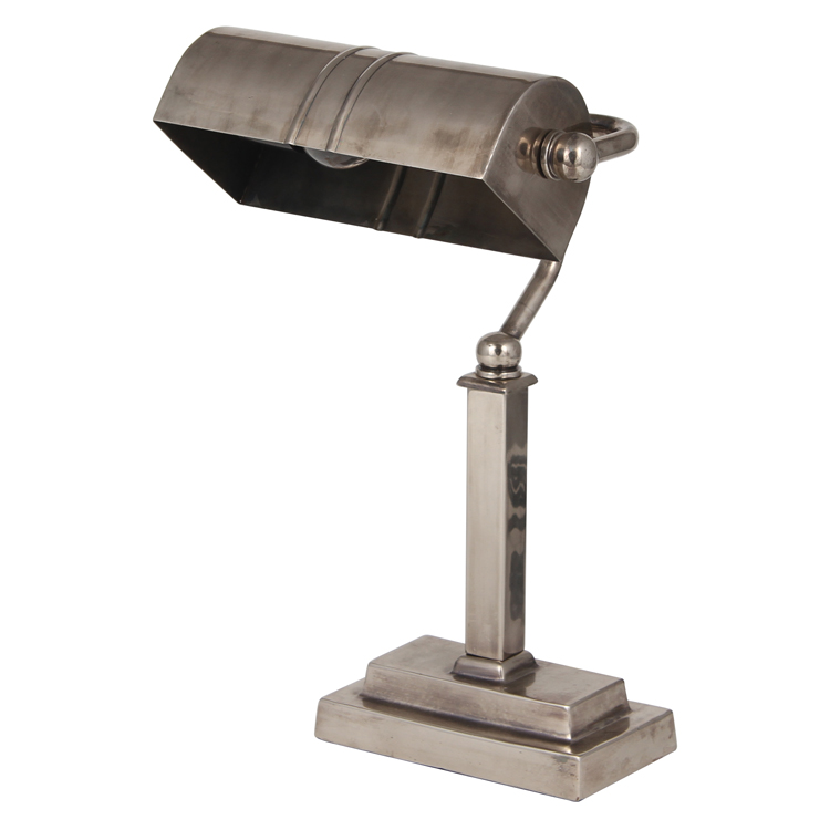 Table Lamp- Nickel Desk Lamp