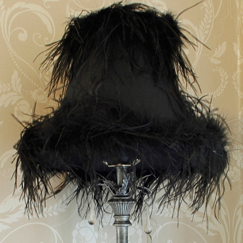 Black Feather Lamp Melody Maison 174