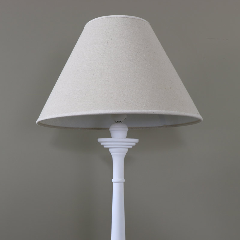 Tall White Table Lamp