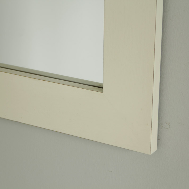 The Adela Range - White Wooden Mirror