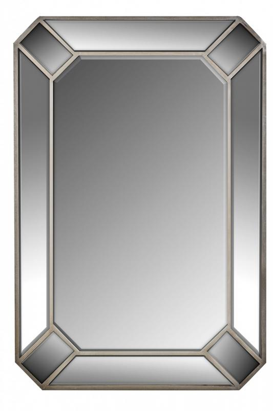 Large Art Deco Style Wall Mirror - Angelina Range 90cm x 61cm