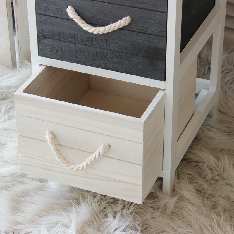 The Nautical Range Blue And White 4 Drawer Chest