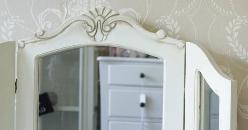 Cream Triple Dressing Table Mirror - Belfort, Country Ash or Cottage Range