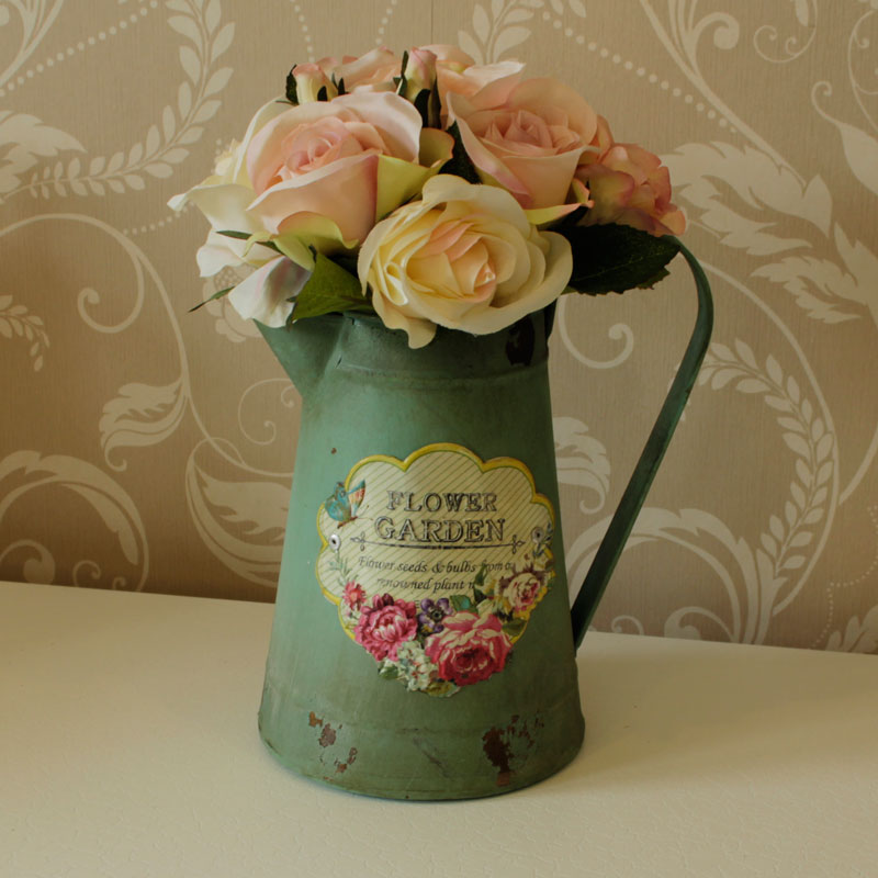 Vintage Green Decorative Jug