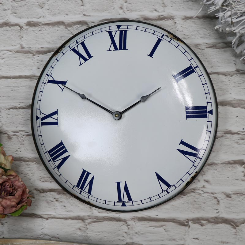 Vintage Wall Clock With Roman Numeral Display Melody Maison 174