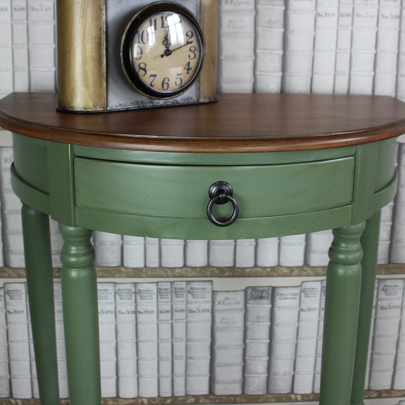 Wexford Range - Country Green Wooden Half Moon Table
