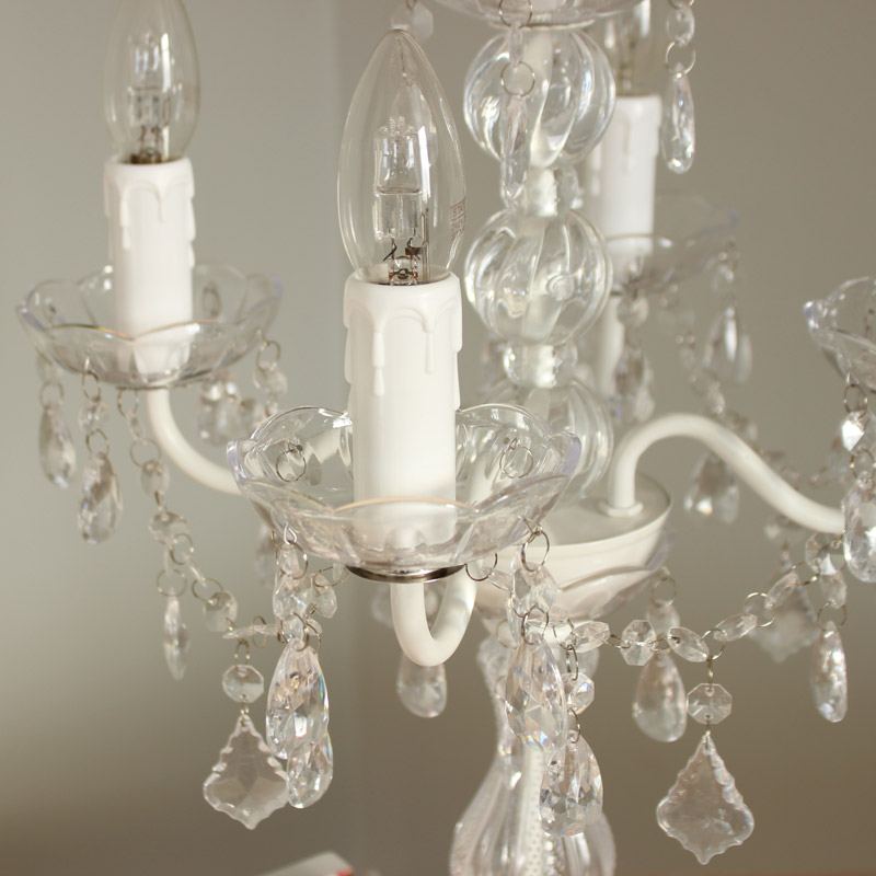 White Chandelier Style Table Lamp