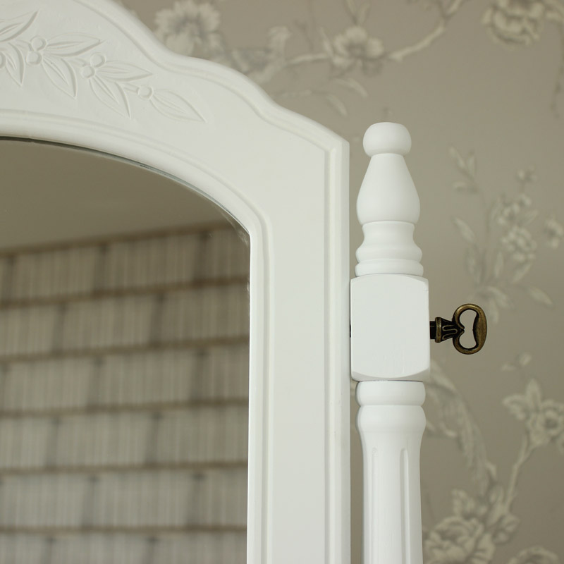 White Dressing Table Swing Mirror