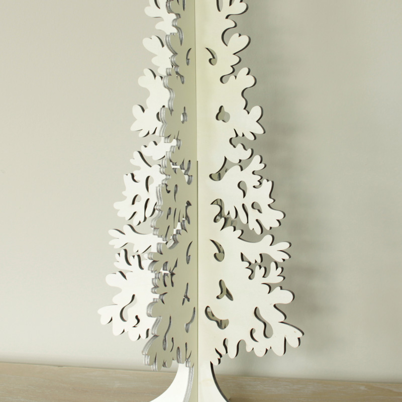 White Free standing Christmas Tree