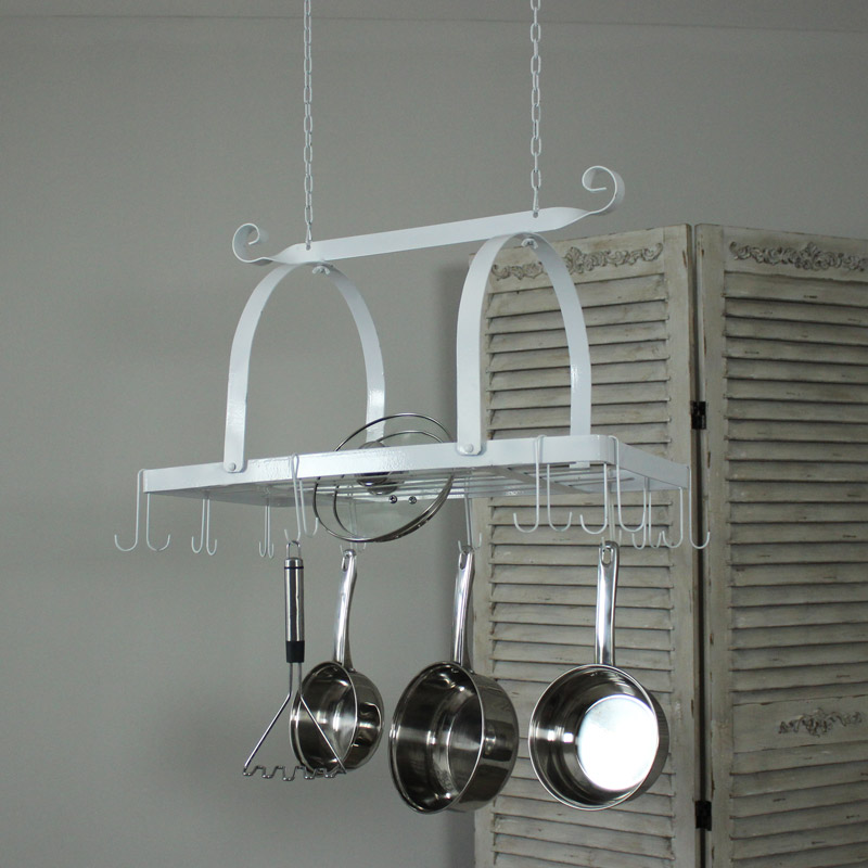 White Hanging Pan Rack