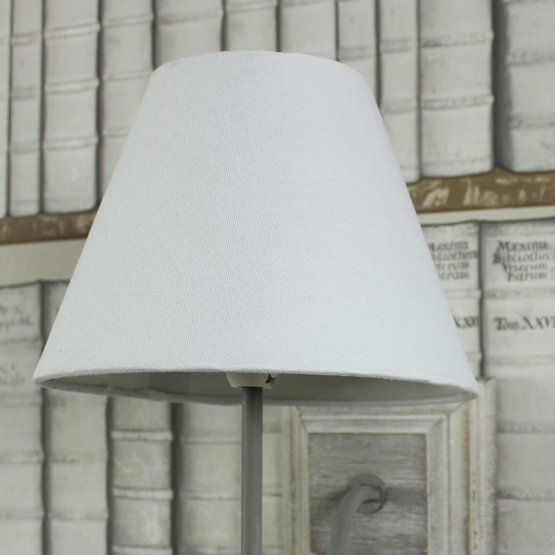 White Linen Cottage Wall Light