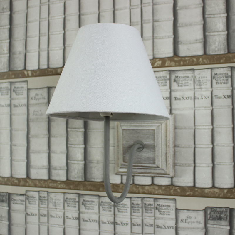 White Linen Cottage Wall Light - Melody Maison