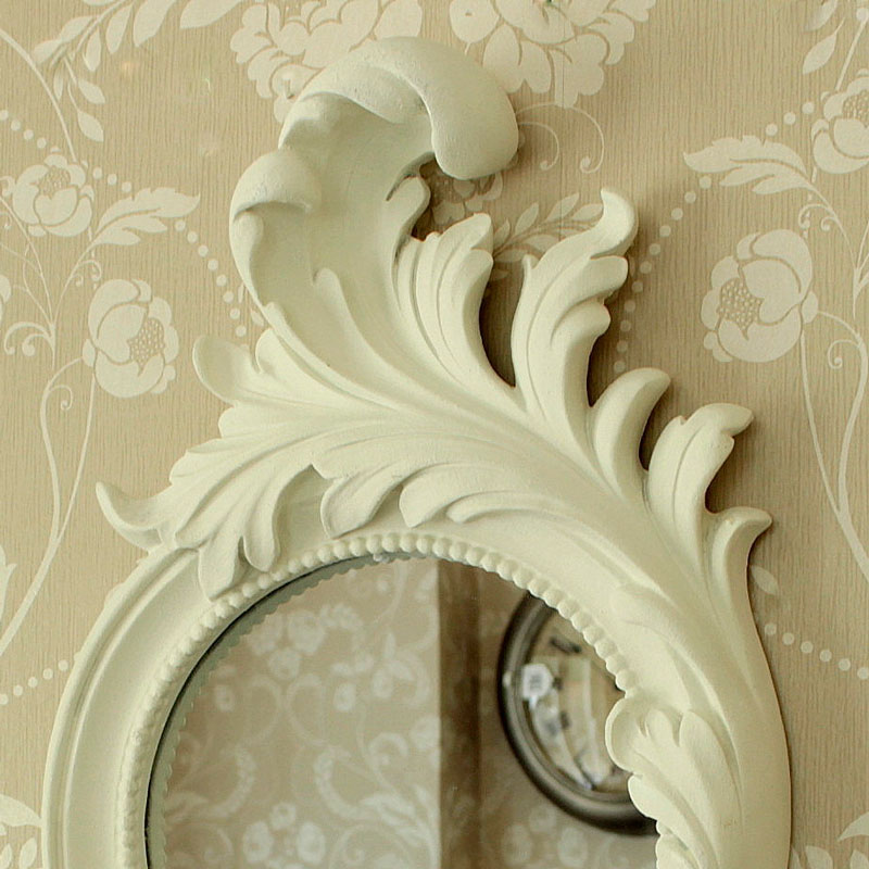 Shabby chic furniture french style home accessories for White baroque style mirror