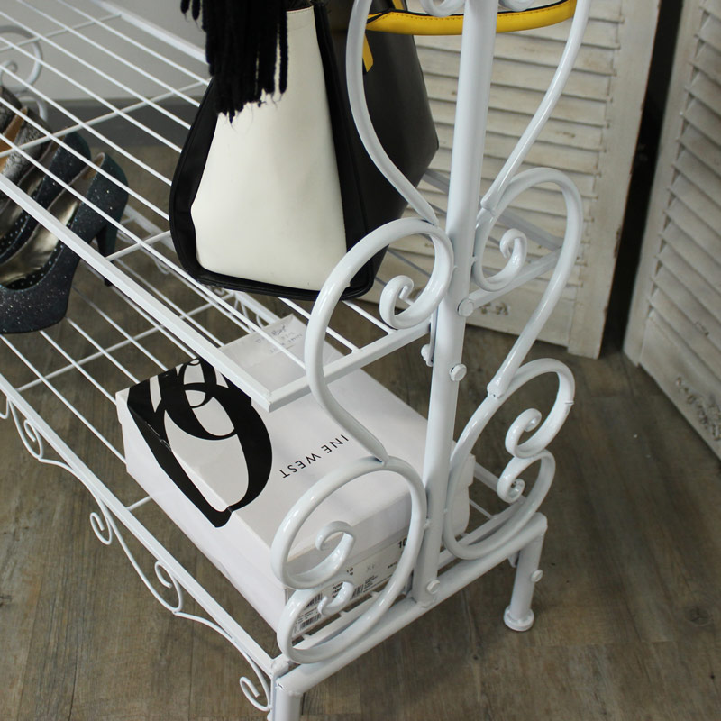 White Ornate Clothes Rail