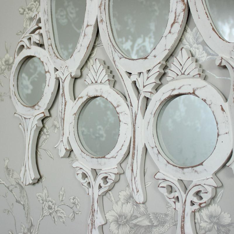 White Vanity Wall Mirror