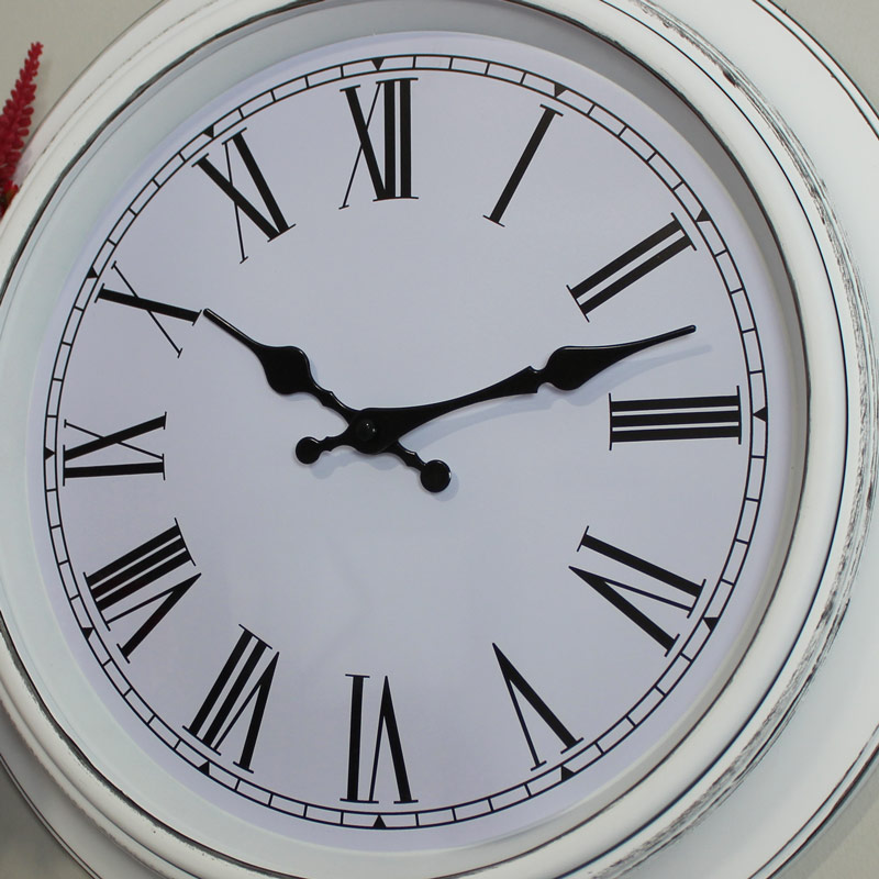 White Wall Clock Melody Maison 174