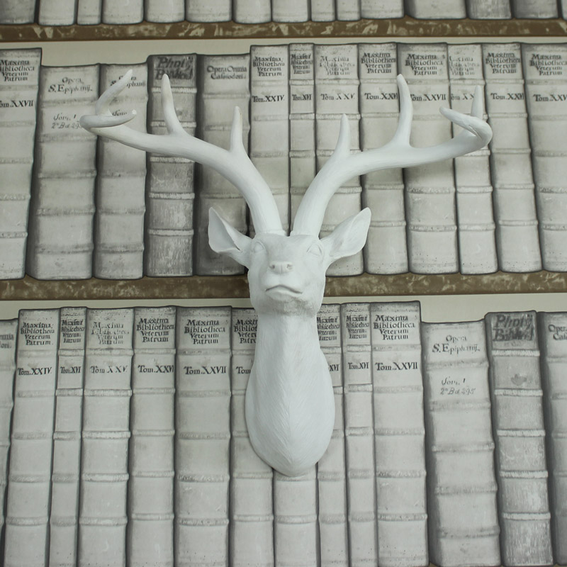 White Wall Mounted Stag's Head